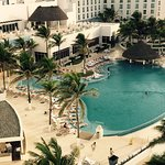 View of pool from honeymoon suite