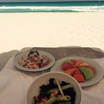 Lunch served on the beach. Always fresh and delicious!