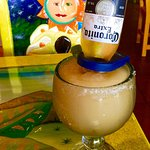 These corona margaritas are delicious, but pricey @$9.00 each.