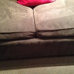 Worn, dirty couch