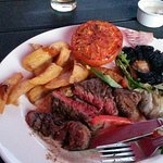 This was my so called medium rare steak that cost almost a tenner..and just to let you all know