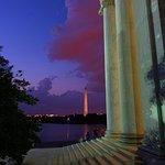 Lincoln Memorial und Reflexionsbecken Foto
