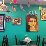 Lola's has great food and cool art