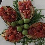 The freshest bruschettas and olives