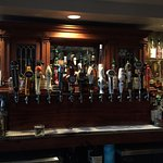Wonderful selection of tap beers, wine and Irish whiskey's! Beautiful Pub area