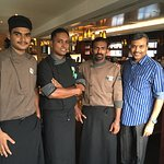 With Roma Chef Brigade(L toR) Hamid, Siyad & Arun
