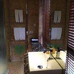 sink and towel rack
