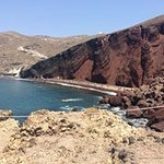 View from the bluff of Red Beach. Lots of rocks to traverse over to get there.