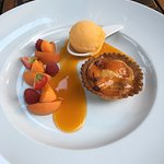 Gâteau aux abricots et son sorbet