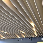 Ceiling of the cafeteria representing sand-dunes