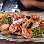 the excellent seafood platter