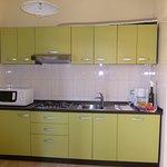 Küchenblock im Apartment