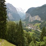 Walking down from Wengen