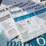 Speisekarten als Zeitung
