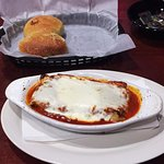 The lasagna lunch special with a salad and fresh bread is a great meal for less than $10.