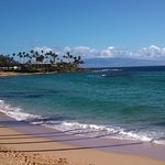 This is from the place down the beach looking back at Napili Shores