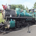The larger of two live, coal-fired steam engines on the Tweetsie Railroad
