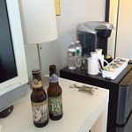 Welcome beers with Keurig station