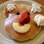 Smiley face pancake for kids