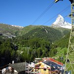 A view of the Matterhorn from my balcony. The valley view is gorgeous.