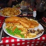 The battered cod was enormous!
