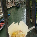 Pasta by a canal