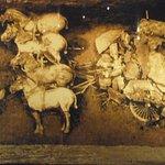 Bronze chariot before restoration.