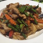 Drunken noodles with pork