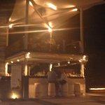 hotelbar  in the  evenening