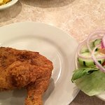 Fried Chicken and Salad