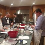 Friends or Lovers cooking class participants