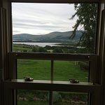 A room with a view of Blessington Lakes. Breathtaking! It is immaculate. Breakfast selection to