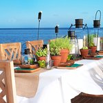 Private dining at Little Palm Island