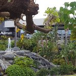 The entrance area of the hotel is well-maintained and nicely landscaped.