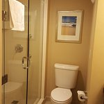 The bathroom was small, but it still was well-furnished.