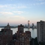 Amazing sunrise view over the Hudson
