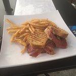 Reuben Sandwich and Fries