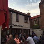 The courtyard beer garden and outside dining.