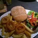 Exmoor Home Made Burger at Village Inn Pub Lymington