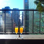 morning mimosas on the terrace
