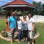 Our crew in front of gazebo