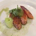 Salmon on a lime cream sause