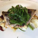 River Trout with seasoned onions, cauliflower, beetroot, and carrots