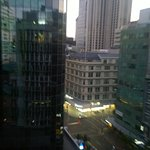 View from my private room onto the main street in Auckland