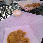 Delicious Tostones with Pink Sauce