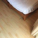 Gulvet på rommet vårt.