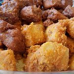 Popcorn tofu: original and buffalo