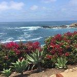 View from walkway of ocean
