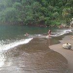 Wallilabou beach afternoon swim