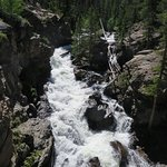 mere minutes from Grand Lake's main street, Adams Falls is in Rocky Mountain National Park